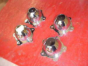 American Torque Thrust Center Wheel Caps Chrome 2 And 1 4 May Fit Others Rat 214