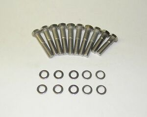 Ford Fe 390 428 Edelbrock Performer Intake Manifold Bolts Stainless Steel New