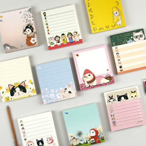 10pcs Cute Jetoy Memo Pad Bookmark Index Daily Planner Notepad Stationery Paper