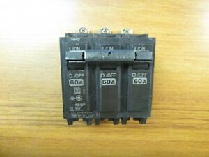 New Panel Pull Ge Circuit Breaker 3p 60a Cat Thqb32060 chip Vs 821