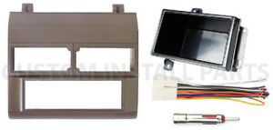 Aftermarket Single Din Stereo Radio Install Beige Dash Kit Wire Harness Adapter