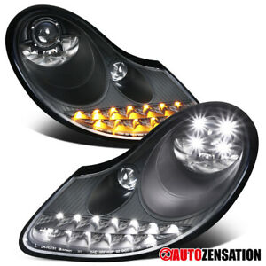 For 97 04 986 Boxster 97 01 996 911 Carrera Black Projector Headlight led Signal
