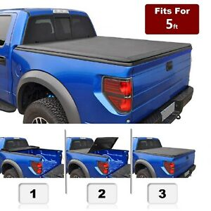 Tonneau Cover Soft Tri fold Truck Bed For 2005 2015 Toyota Tacoma 5 60 3