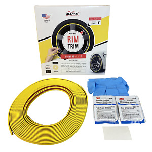 All fit Rim Trim yellow Ring Molding Color Wheel Band Kit For Ford