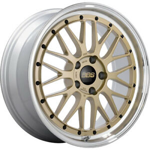 4 Staggered 19x8 5 19x9 5 Bbs Lm Gold Machined 5x120 32 32 Wheels Rims