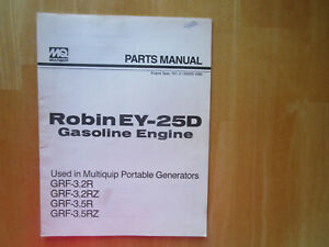 Robin Ey 25d Gasoline Engine Parts Manual Used In Multiquip Portable Generators