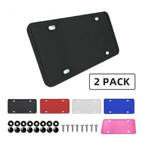2x Silicone License Plate Frames With Installation Hardware Screws
