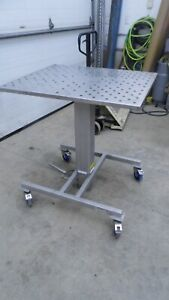 Stainless Steel Hydraulic Lift Table 30 X 36 Top 40 5 Min 56 5 Max Height