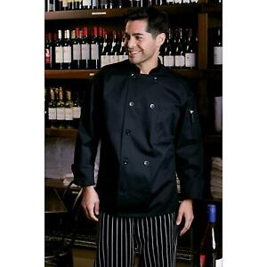Chef Coat Uniform Jacket 65 35 Poly cotton Twill With 10 Pearl Buttons