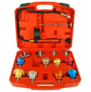 14 Pc Cooling System Radiator Cap Pressure Tester