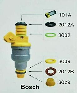 Fuel Injector Rebuild Kit For Bosch With Optional Filter Removal Tool