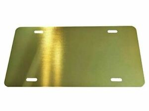 Gold Anodized Aluminum License Plate Blank Heavy Gauge 040 1mm Laser Cut In Usa