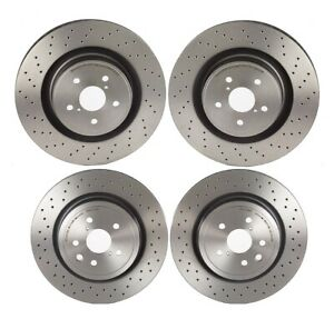 Brembo Front And Rear Pvt X Drilled Brake Disc Rotors Kit For Lexus Is F 08 14