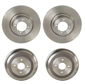 Brembo Front Disc Rotors Set And Rear Drums Brake Kit For Bmw E10 2002 2000tii