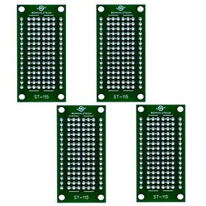 4 Pack Diy Proto Perf Board Permanent Breadboard With Solder Mask 1 x2 St 115