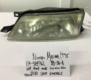 Used Nissan Maxima 1998 Left Head Lamp Assembly Drivers Quality