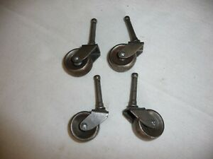 Vintage Metal Roller Or Roller Wheel Furniture Feet 4