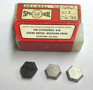 8pc Whec 532 Hexagon Shaped Carbide Inserts Valenite Face Mill Cutter 5 8 Hex