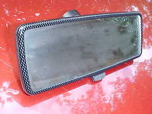 Carbon Fiber Style Rear View Mirror Real Glass Black Back Glue Style Day Nite M1