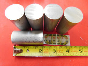 5 Pieces 1 6061 Aluminum Round Rod Bar 2 Long Solid T6511 New Lathe Stock