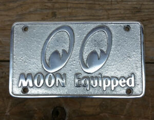 Moon Equipped Vtg Style Car Club Plaque Custom Rat Hot Rod Gasser Drag Racing Vw