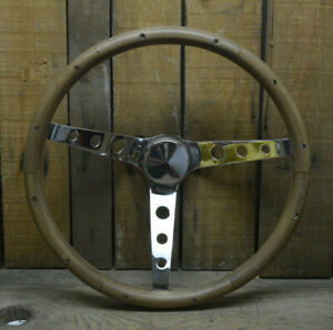 Woodgrain Steering Wheel W 1974 94 Chevy Gmc Pickup Truck Adapter El Camino Van