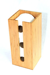 Bamboo Toilet Paper Holder Perfect Storage Or General Bathroom Biodegradable New