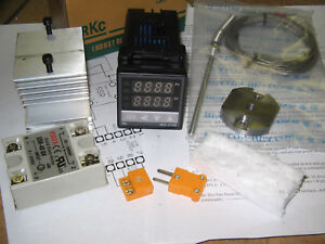 Kiln oven Pid Temperature Controller Kit ssr Output 40