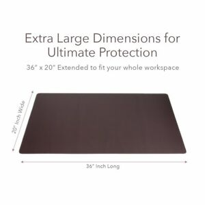 Zbrands Leather Smooth Desk Mat Pad Blotter Protector 36 X 20 Midnight
