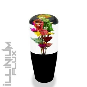 4 Inch Multicolor Flower Bouquet Clear And Black Drift Shift Knob 10x1 5 K02