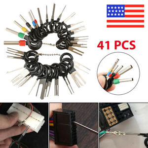 41pcs Car Electrical Wiring Crimp Connector Pin Wire Terminal Removal Tool Kit