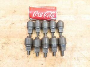 Lot Of 10 Antique Cast Iron Hit Miss Steam Engine Era Oiler Grease Cups
