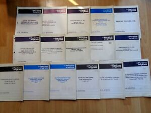 16 Perkins Engine Parts Manuals Clark Champ Eaton Yale Fork Lifts Loaders Oem