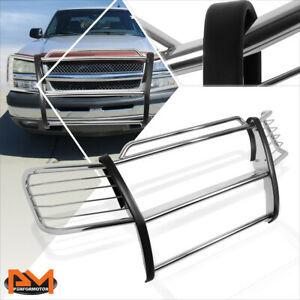 For 02 06 Chevy Avalanche W Cladding Bumper Brush Grill Guard Protector Chrome