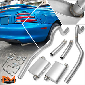 For 94 95 Ford Mustang 5 0l V8 2 5 Od Dual Muffler S S Catback Exhaust System