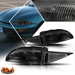 For 95 99 Chevy Cavalier Direct Replacement Headlight lamp Clear Corner Smoked