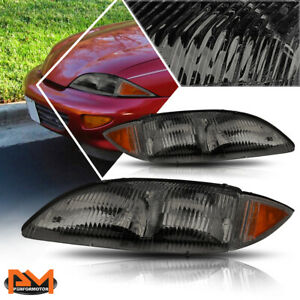 For 95 99 Chevy Cavalier Direct Replacement Headlight lamp Amber Corner Smoked