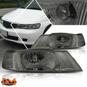 For 99 04 Honda Odyssey Direct Replacement Headlight Smoked Housing Clear Corner
