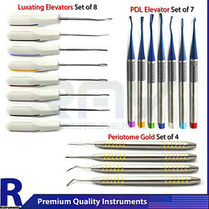 Dental Tooth Luxation Elevators Periotome Atraumatic Extraction Scalers Pdl Set