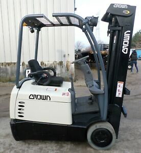 Crown Sc4520 30 2008 3000 Lbs Capacity Great 3 Wheel Electric Forklift