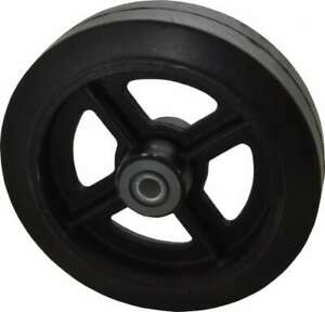 Albion 8 Inch Diameter X 2 Inch Wide Solid Rubber Caster Wheel 500 Lb Capac