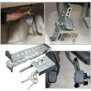 Brake Pedal Lock Security Auto Car Stainless Steel Clutch Lock Anti theft Kit