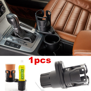 1pcs Black Rotatable Cup Drink Bottle Holder For Car Interior Center Console