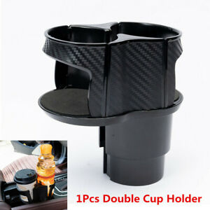 Carbon Fiber Center Console Drink Cup Holder Box For Car Interior Accessories