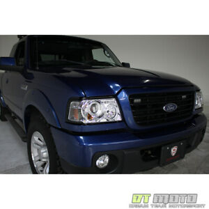 2001 2011 Ford Ranger Led Dual Halo Projector Headlights W built In Corner Lamps