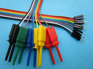 30 Strips 2 54mm 10p 1x10pin Jumper Wire Male To Flat Test Clip Ribbon Cable New
