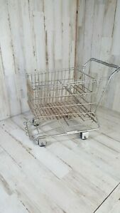 Small Metal Shopping Cart 11 Long X 11 Tall Rolling Wheels Realistic Replica