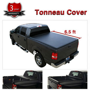 Soft Vinyl Roll Up Tonneau Cover For 07 14 Silverado Sierra 6 5 Fleetside Bed