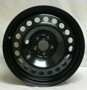 17 Inch 5 On 110 Black Steel Wheel Rim Fits Renegade Cherokee We4319n New