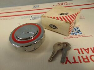 Nos Vintage Locking Gas Cap With Keys Ford Chevy Dodge Plymouth Rat Rod Pickup